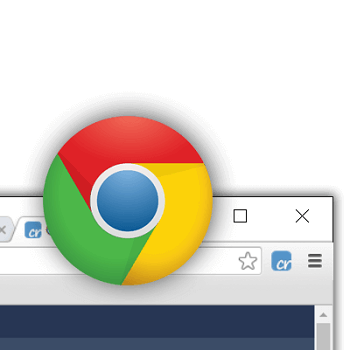 Chome Logo Over Chrome Browser with Crelate Extension Logo