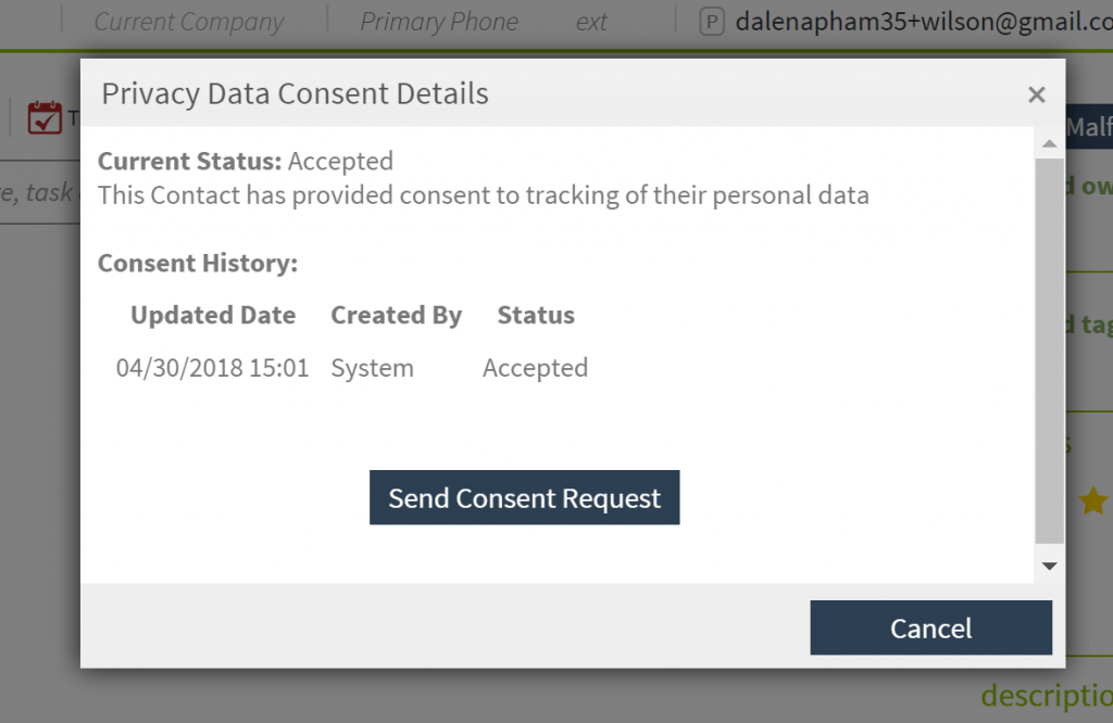 Crelate ATS GDPR Consent History and Audit Log Feature