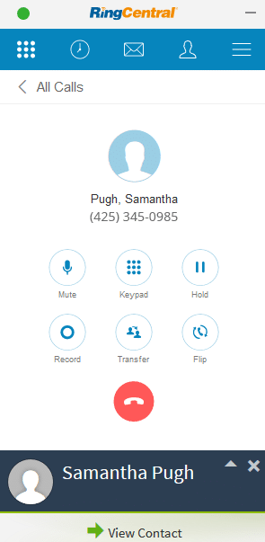 Outgoing Call from Crelate Using RingCentral