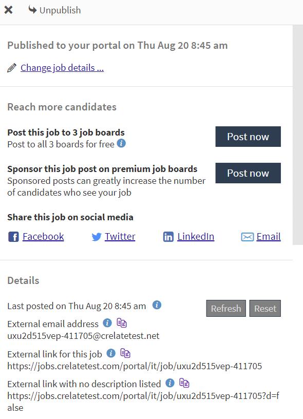 Job publishing and job promotion via an ATS - Upgrade from Crelate ATS