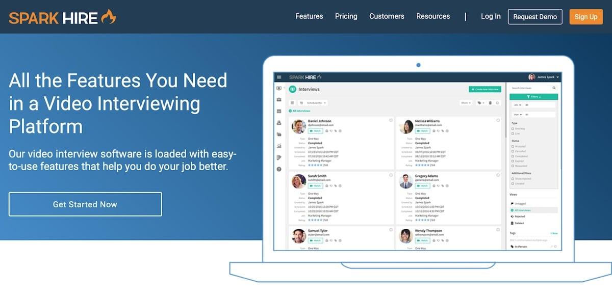 spark hire screenshot