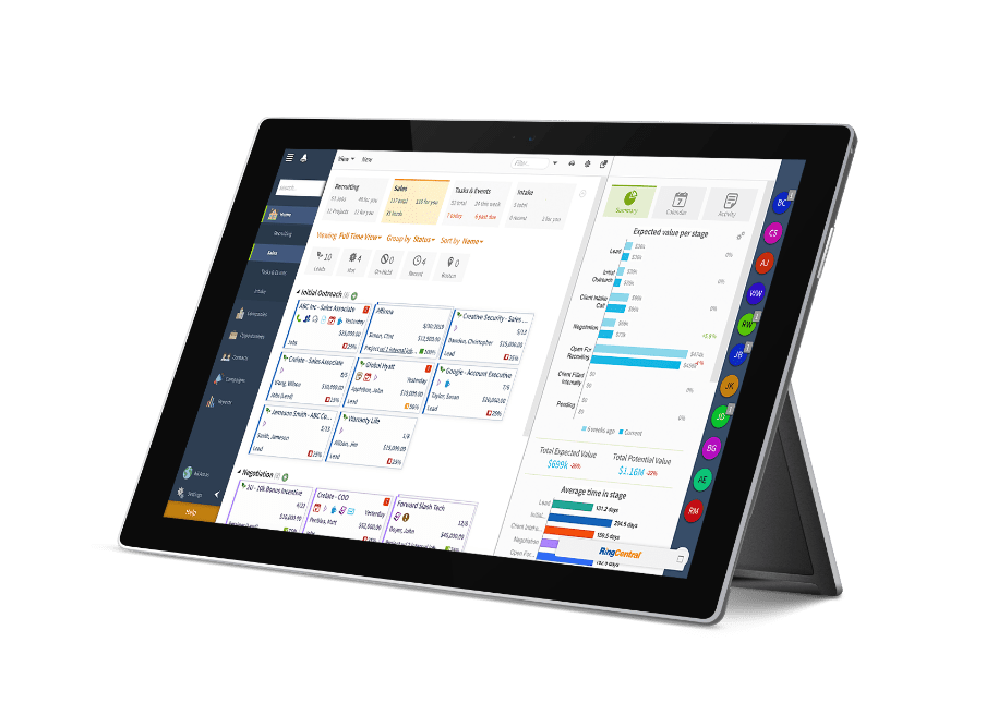 Crelate Deliver on Tablet