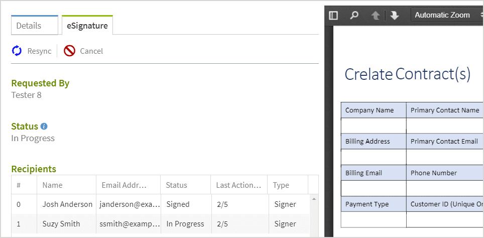 Crelate eSignature functionality for recruiters