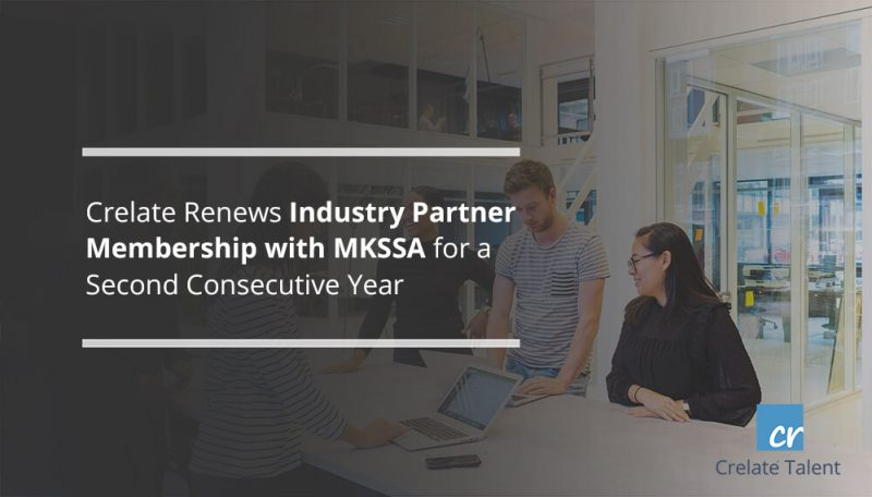 Crelate Renews Industry Partner Membership with MKSSA for a Second Consecutive Year