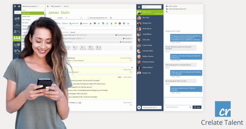 Crelate ATS introduces text messaging for recruiters