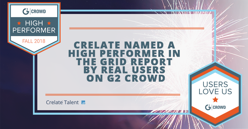 Crelate Named a High Performer In the Grid Report By Real Users on G2 Crowd